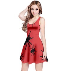 Illustration With Spiders Reversible Sleeveless Dress