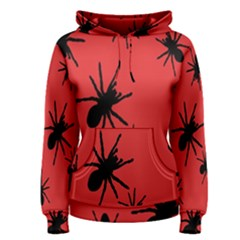 Illustration With Spiders Women s Pullover Hoodie