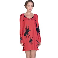 Illustration With Spiders Long Sleeve Nightdress