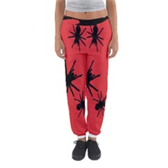 Illustration With Spiders Women s Jogger Sweatpants