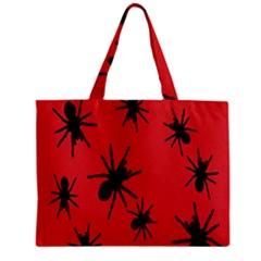 Illustration With Spiders Zipper Mini Tote Bag