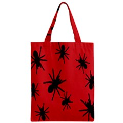 Illustration With Spiders Zipper Classic Tote Bag