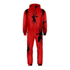 Illustration With Spiders Hooded Jumpsuit (Kids)