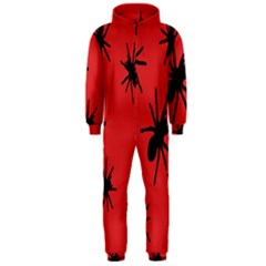 Illustration With Spiders Hooded Jumpsuit (men)