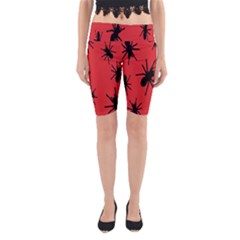 Illustration With Spiders Yoga Cropped Leggings