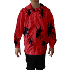 Illustration With Spiders Hooded Wind Breaker (kids)