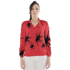 Illustration With Spiders Wind Breaker (Women)