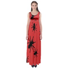 Illustration With Spiders Empire Waist Maxi Dress