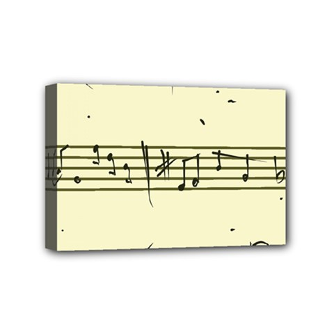 Music Notes On A Color Background Mini Canvas 6  x 4