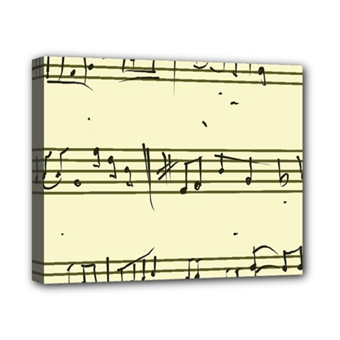 Music Notes On A Color Background Canvas 10  x 8