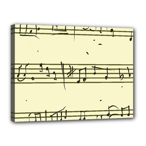 Music Notes On A Color Background Canvas 16  x 12