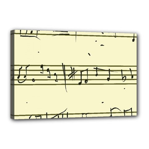 Music Notes On A Color Background Canvas 18  X 12