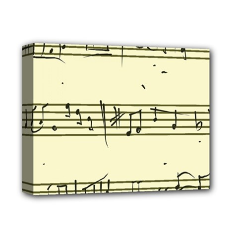 Music Notes On A Color Background Deluxe Canvas 14  X 11