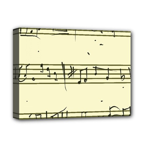 Music Notes On A Color Background Deluxe Canvas 16  x 12