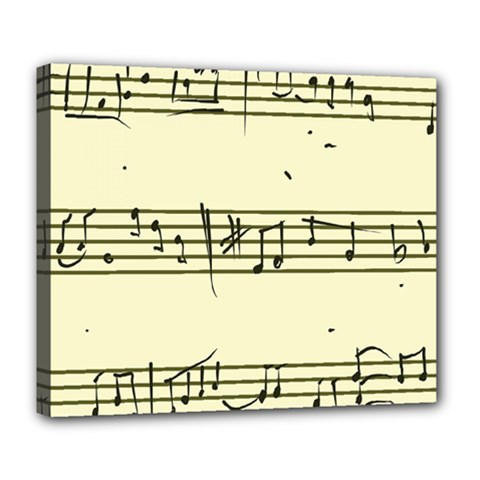 Music Notes On A Color Background Deluxe Canvas 24  x 20