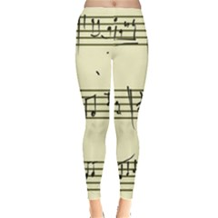 Music Notes On A Color Background Leggings