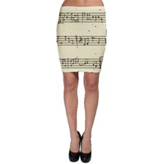 Music Notes On A Color Background Bodycon Skirt