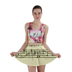 Music Notes On A Color Background Mini Skirt