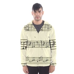 Music Notes On A Color Background Hooded Wind Breaker (Men)