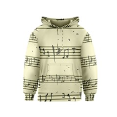 Music Notes On A Color Background Kids  Pullover Hoodie