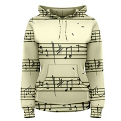 Music Notes On A Color Background Women s Pullover Hoodie
