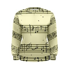 Music Notes On A Color Background Women s Sweatshirt