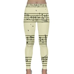 Music Notes On A Color Background Classic Yoga Leggings