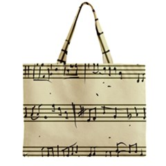 Music Notes On A Color Background Zipper Mini Tote Bag