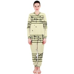 Music Notes On A Color Background OnePiece Jumpsuit (Ladies)