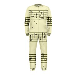 Music Notes On A Color Background Onepiece Jumpsuit (kids)