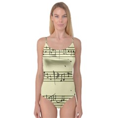 Music Notes On A Color Background Camisole Leotard