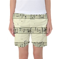Music Notes On A Color Background Women s Basketball Shorts