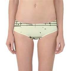 Music Notes On A Color Background Classic Bikini Bottoms