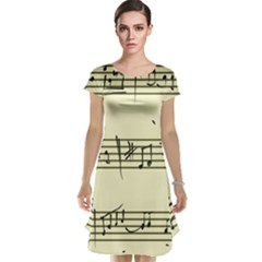 Music Notes On A Color Background Cap Sleeve Nightdress