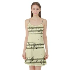 Music Notes On A Color Background Satin Night Slip