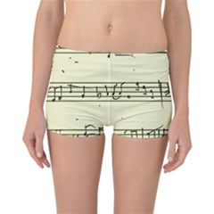 Music Notes On A Color Background Reversible Bikini Bottoms