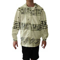 Music Notes On A Color Background Hooded Wind Breaker (kids)