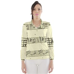 Music Notes On A Color Background Wind Breaker (women)