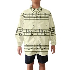 Music Notes On A Color Background Wind Breaker (Kids)