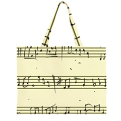 Music Notes On A Color Background Large Tote Bag