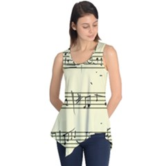 Music Notes On A Color Background Sleeveless Tunic