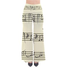 Music Notes On A Color Background Pants