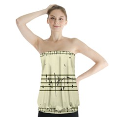 Music Notes On A Color Background Strapless Top