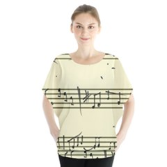 Music Notes On A Color Background Blouse