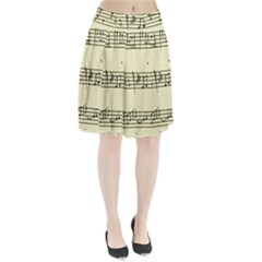 Music Notes On A Color Background Pleated Skirt