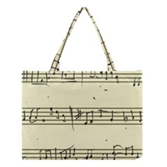 Music Notes On A Color Background Medium Tote Bag
