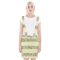 Music Notes On A Color Background Suspender Skirt