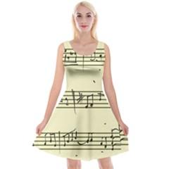 Music Notes On A Color Background Reversible Velvet Sleeveless Dress