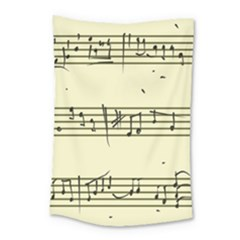 Music Notes On A Color Background Small Tapestry