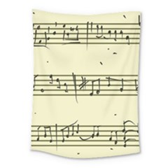 Music Notes On A Color Background Medium Tapestry